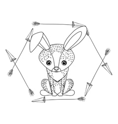 Rabbit animal cartoon design vector
