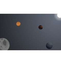 Landscape of space with planet backgrounds vector image