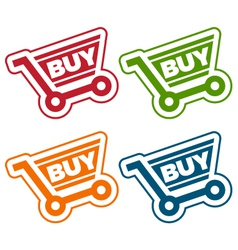 Shopping cart tags vector