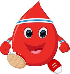 Healthy blood cartoon running vector