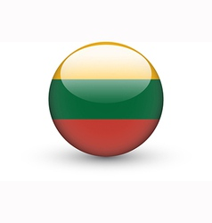 Round icon with national flag of lithuania vector