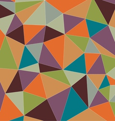 Colorful vintage triangle vector