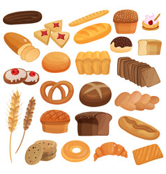 Bakery products set vector