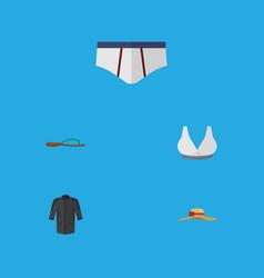 Flat icon garment set of uniform brasserie vector