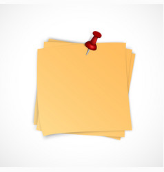 note paper stack with pin vector image
