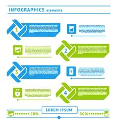 Web infographics elements vector image