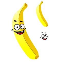 Smiling ripe yellow tropical banana vector