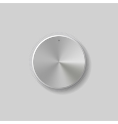 Volume control dial white button vector
