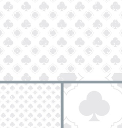 White vintage poker clubs distressed background vector