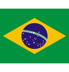 Official national flag of brazil vector