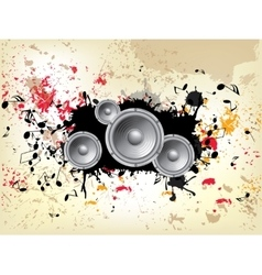 Grunge musical background theme vector