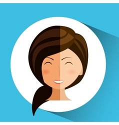 Woman avatar design vector