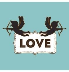 Love and cupid design  valentines related icon vector