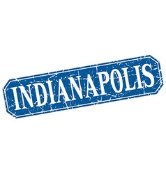 Indianapolis blue square grunge retro style sign vector