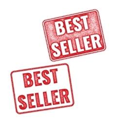 Realistic textured stamp bestseller vector