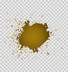 Gold brush paint stroke with rough edges vector image