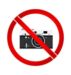 No photo camera prohibition sign vector