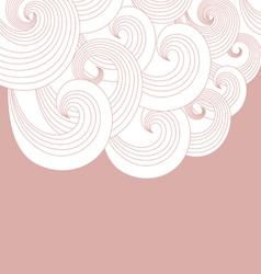 Abstract background of pink spirals vector