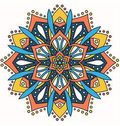 Abstract round ornament circle mandala pattern vector