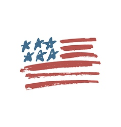american flag brush vector image vector image