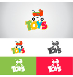 baby toys logo vector image