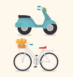 cute vehicles design vector image
