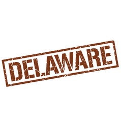 Delaware brown square stamp vector