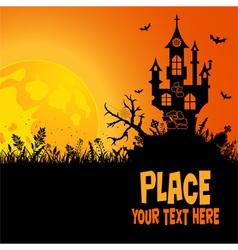 halloween haunted house vector image