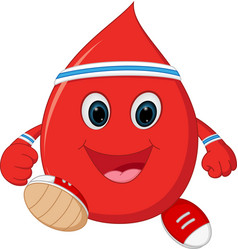 healthy blood cartoon running vector image