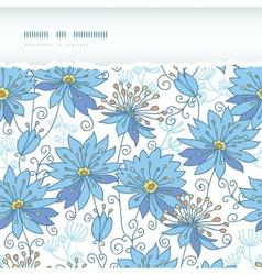 Heavenly flowers horizontal torn seamless pattern vector