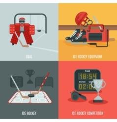 Hockey icons set vector