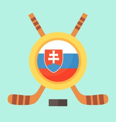 Hockey in slovakia vector