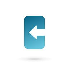 Letter c mobile phone app logo icon design vector