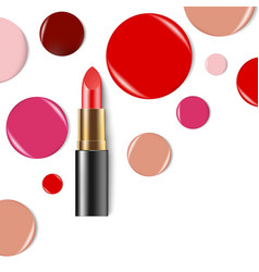 lipstick cosmetics makeup realistic 3d mock-up of vector image