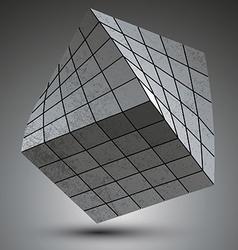 Modern galvanized stylish 3d construction created vector