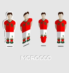 Morocco soccer team sportswear template vector