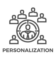 personalization line icon vector image vector image