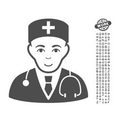 Physician icon with bonus vector