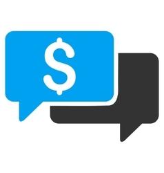 Price Bids Flat Icon vector image vector image