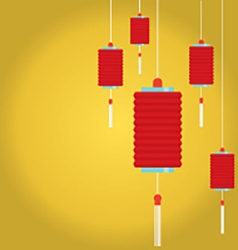 Red Lantern Background vector image