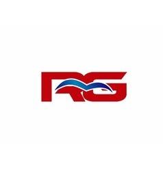 Rg letter logo vector
