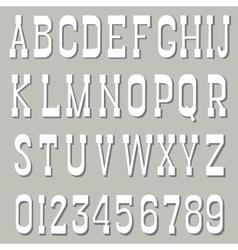 Serif font white vector image vector image