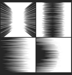 speed line comic book texture horizontal motion vector image vector image