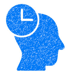 Time thinking grunge icon vector