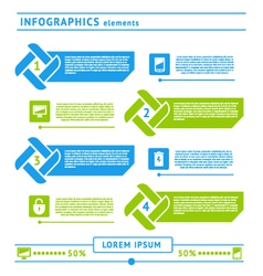 Web infographics elements vector image vector image