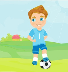 Young soccer player vector image