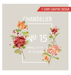 Vintage Floral Graphic Design - for T-shirt Fashio vector image