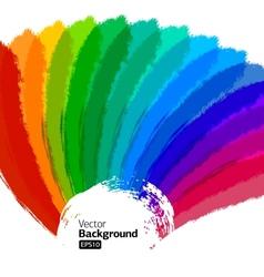 Multicolor Sunbeams grunge background vector image