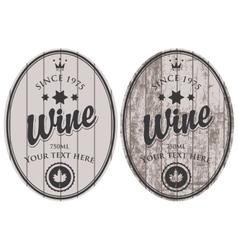 set of wine labels vector image