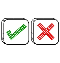 Two different buttons vector image